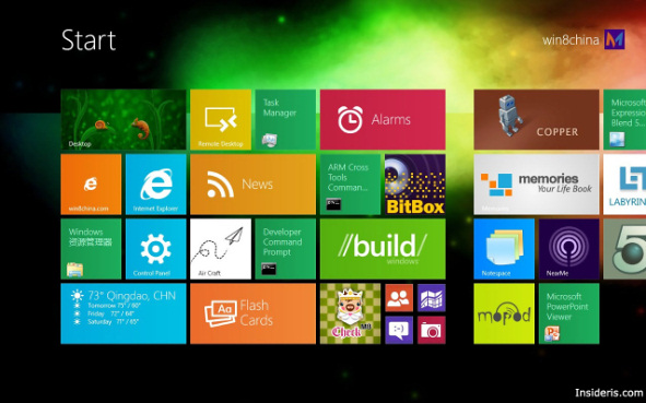 Windows 8 Background Wallpaper And Small Tiles Concept