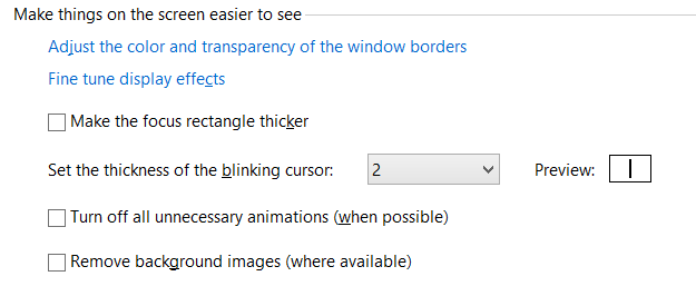 Windows 8 Tips: Increase The Blinking Cursor Thickness