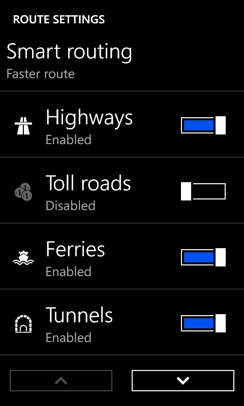 Nokia Drive Route Options