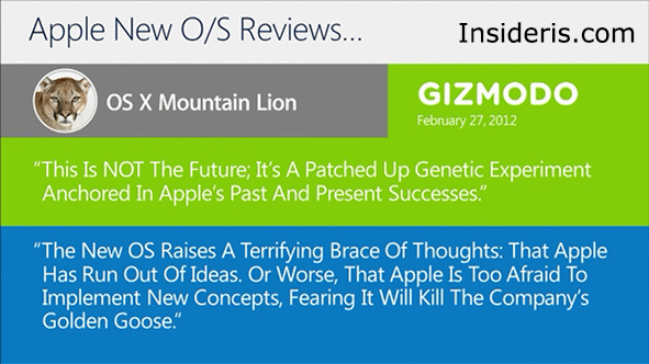 Microsoft: Apple Lots Its Way, Mac OS X Lacks Innovation