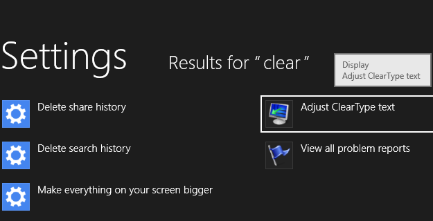 Windows 8: Enable ClearType Optimization