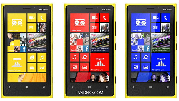 Yellow Lumia 920 With Red And Blue Tiles